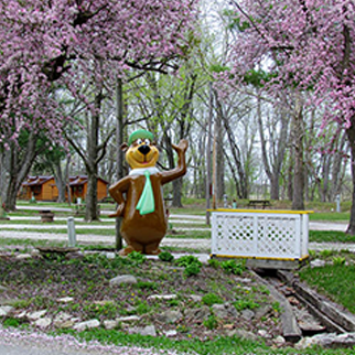 photo of yogi bear statue