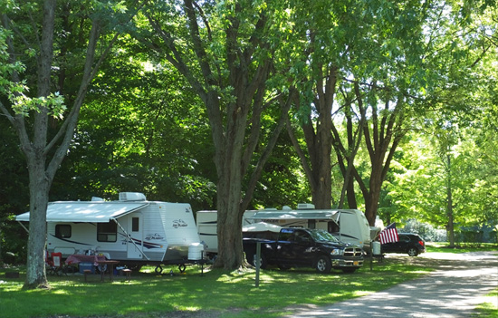 Photo of Trailers in the trees