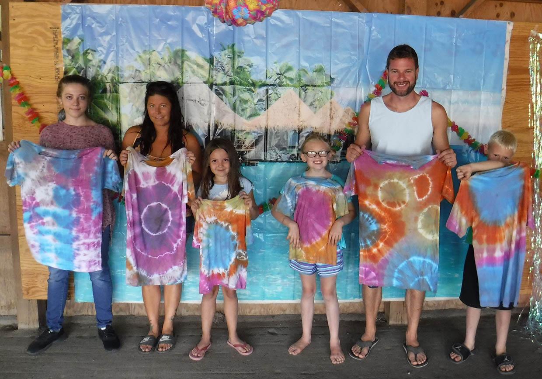 tie dye family photo