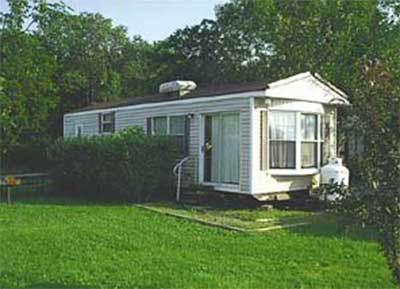 exterior of the park model trailer