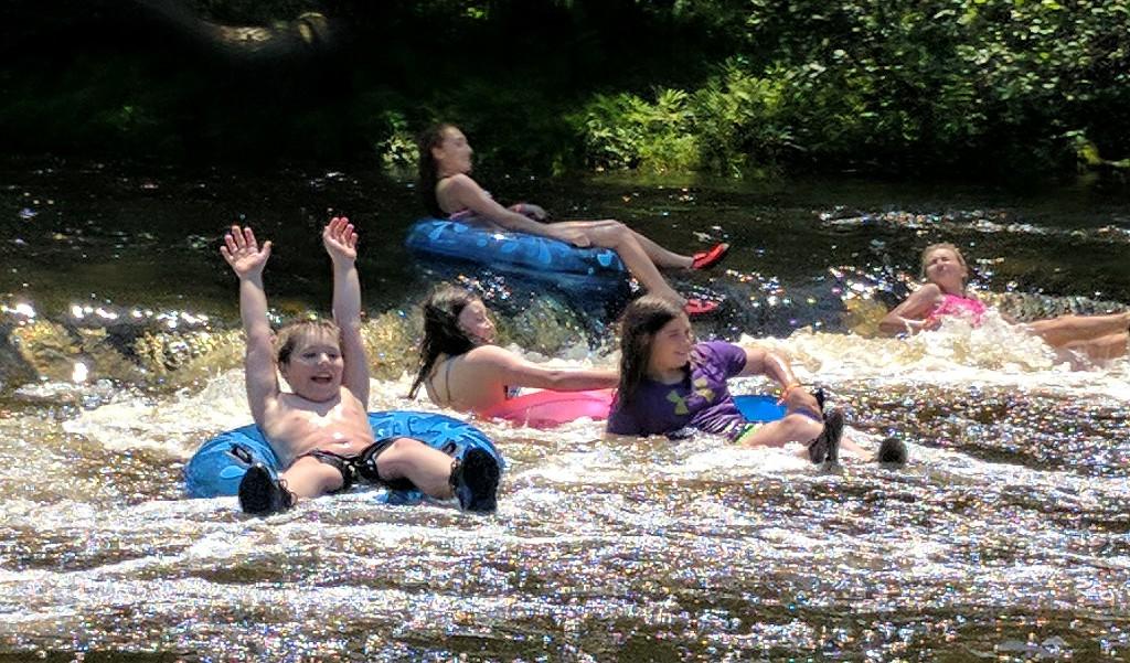 Kids river tubing