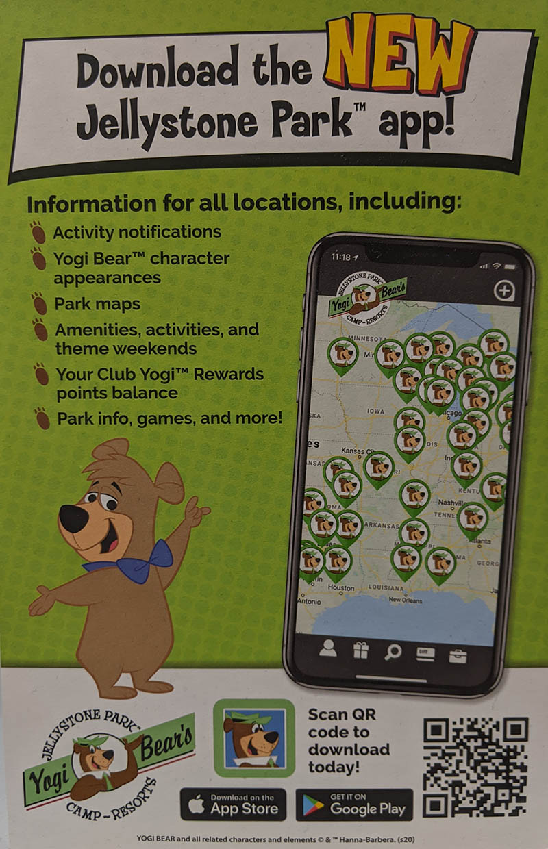 download the new jellystone park™ app