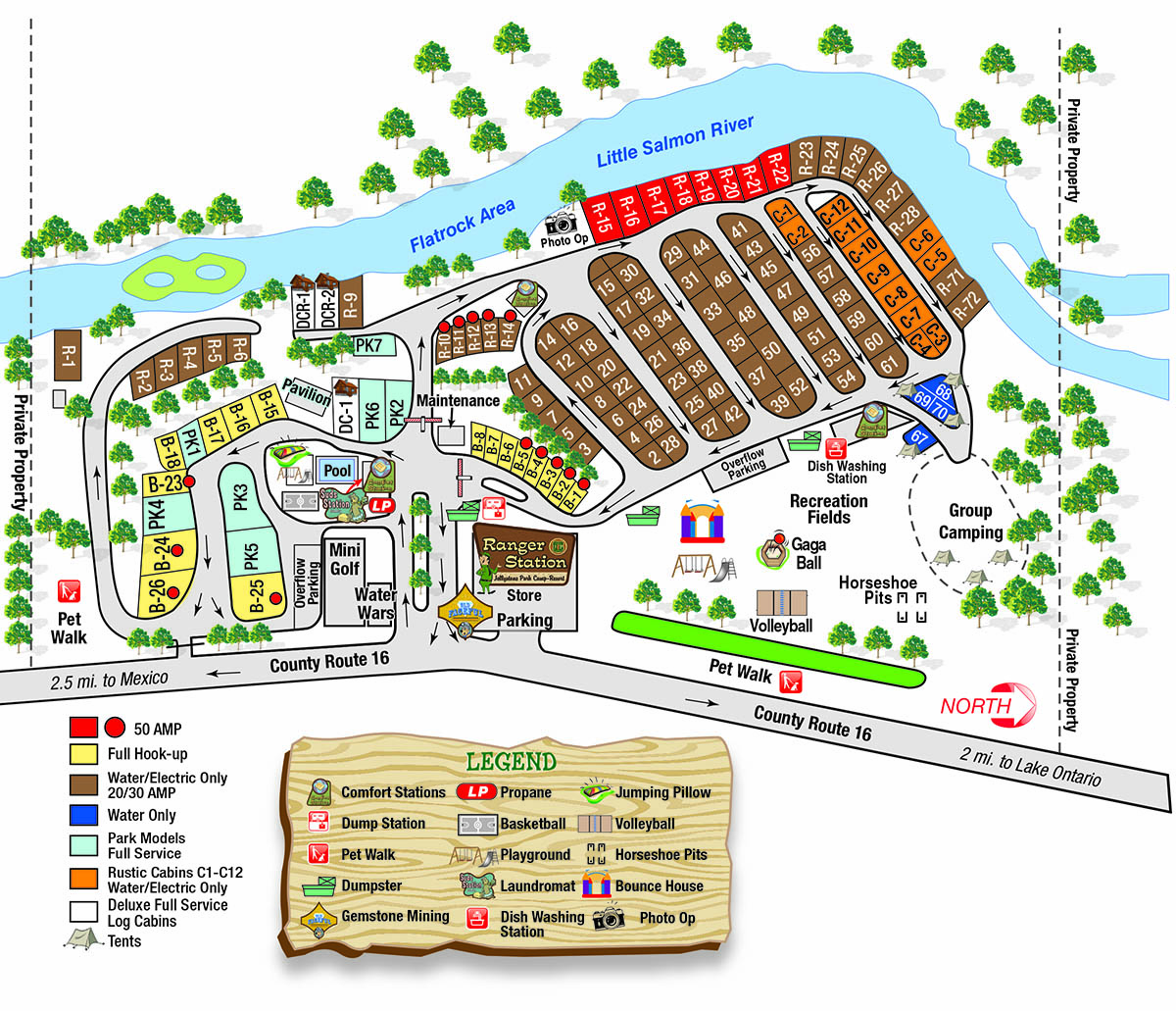 2021 campground map for jellystone park in mexico ny