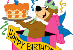 birthday party with Yogi Bear and friends