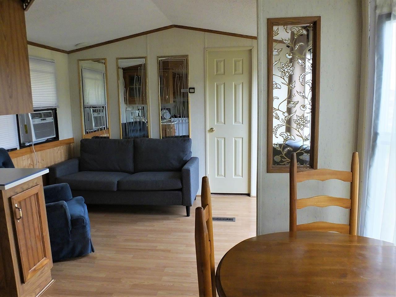 living area in park model trailer
