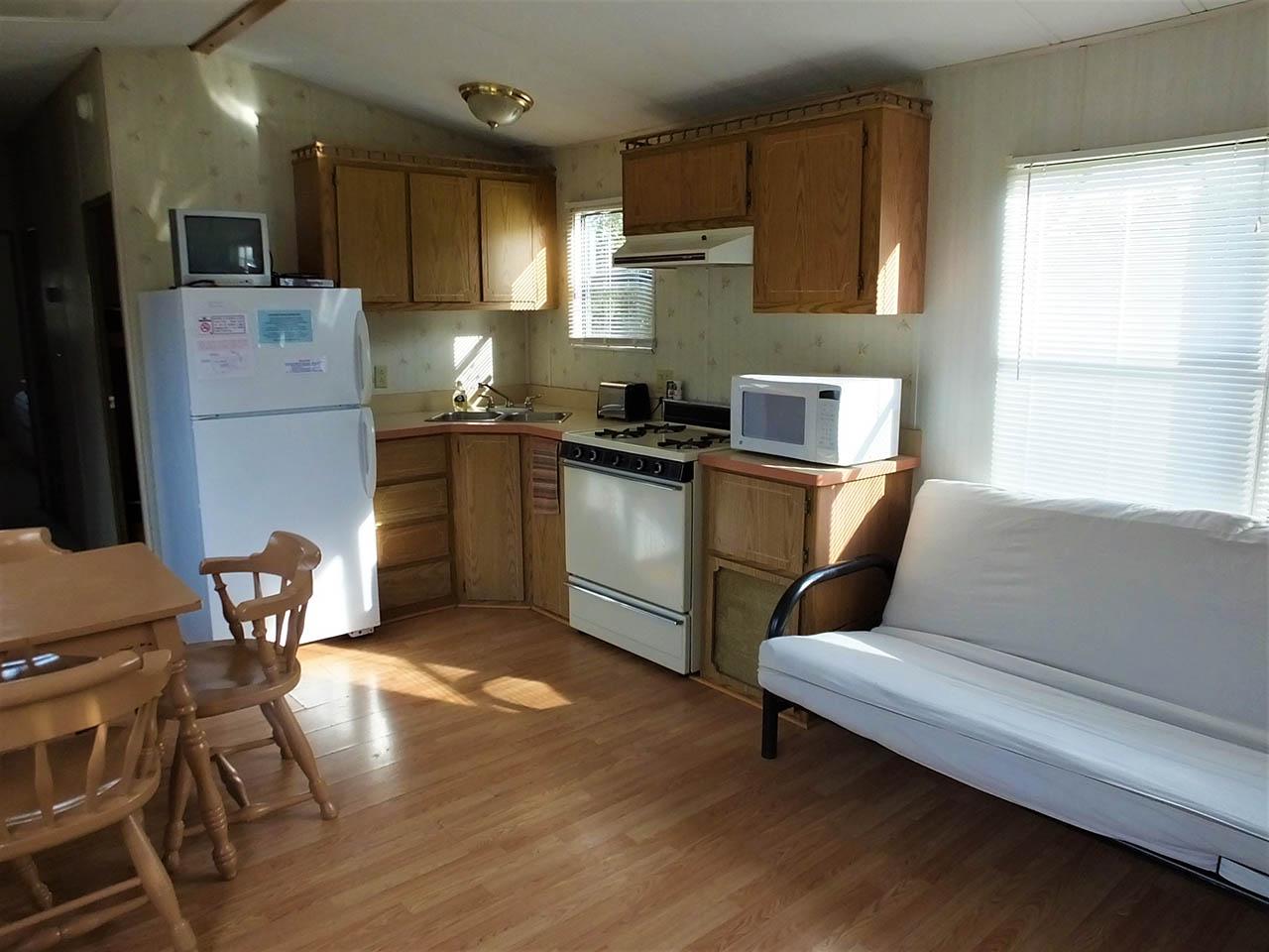 kitchen in park model trailer